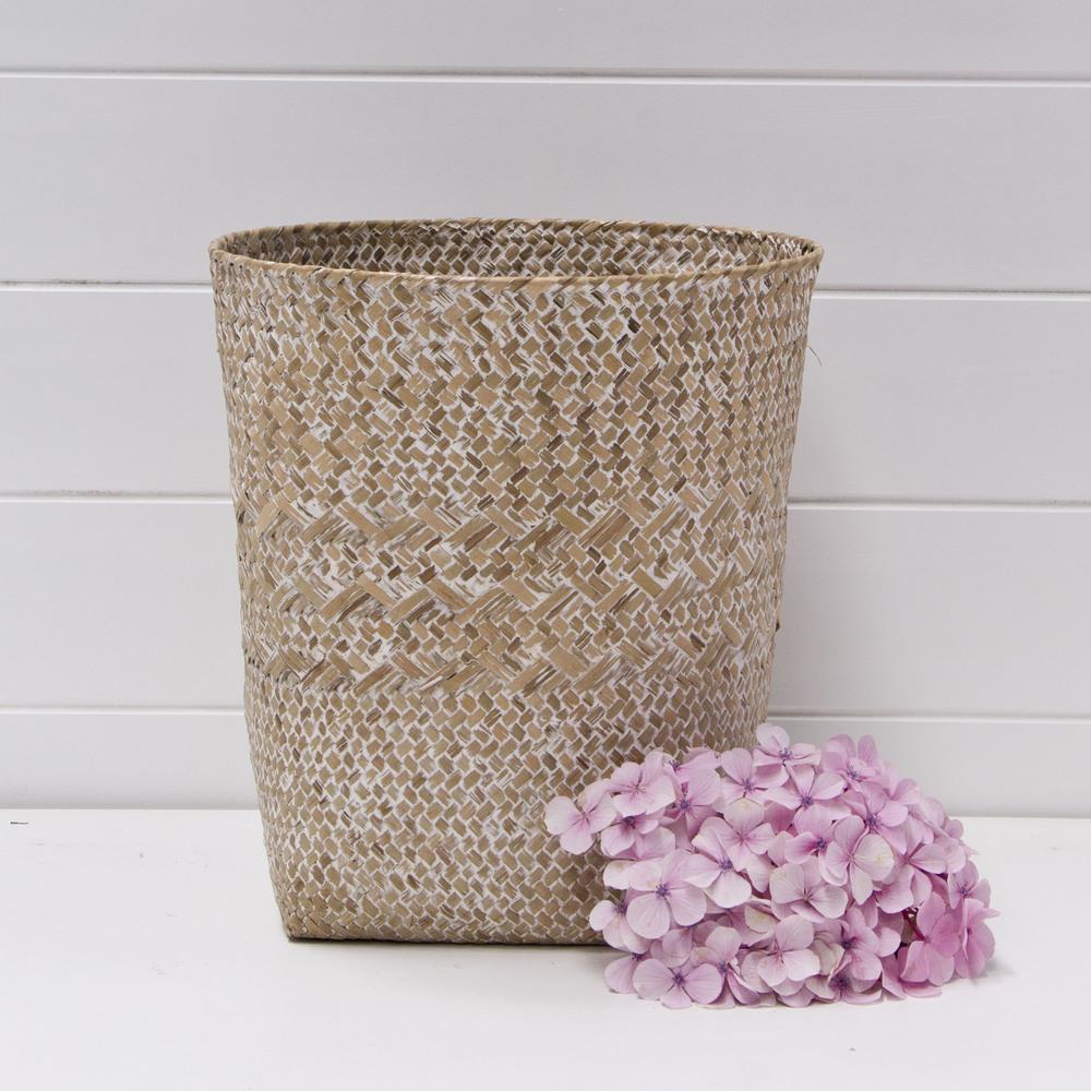 Large Whitewash Basket