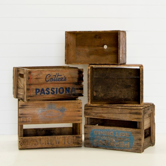Selection of Wooden Crates