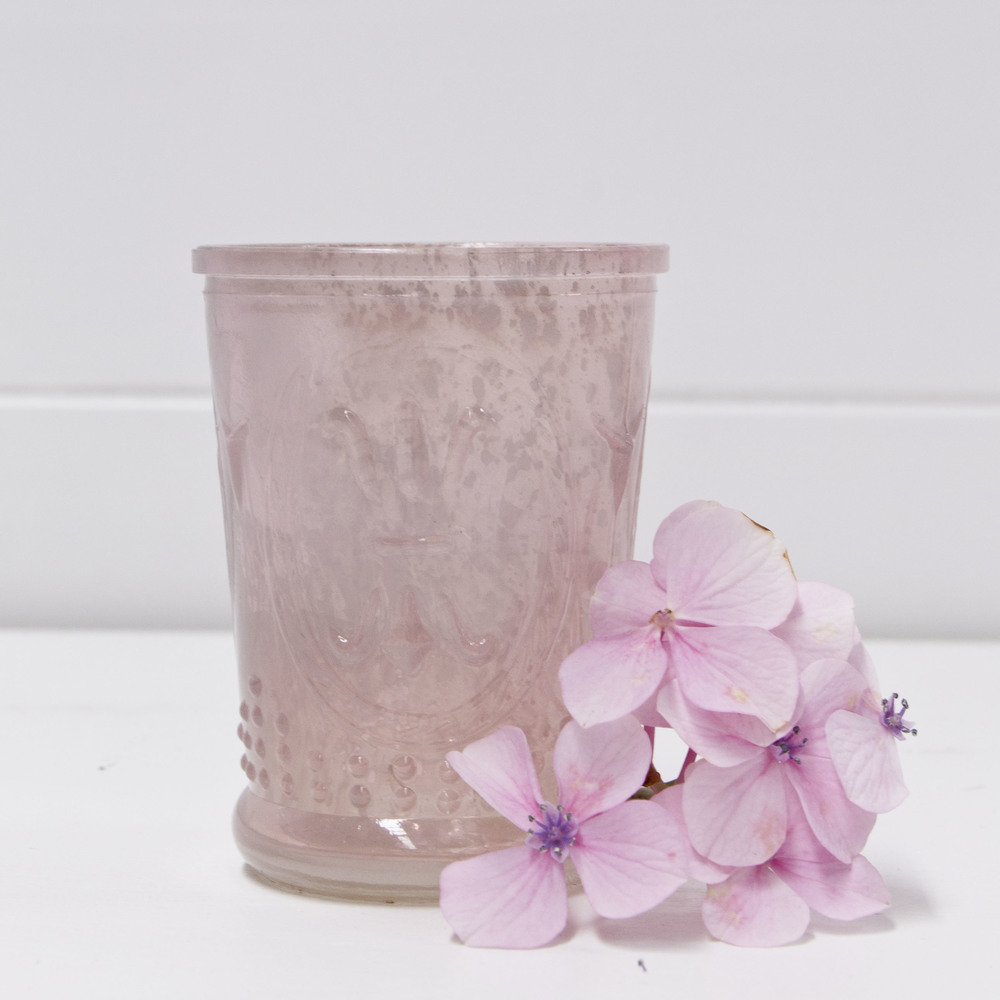 Glass Pink Votive