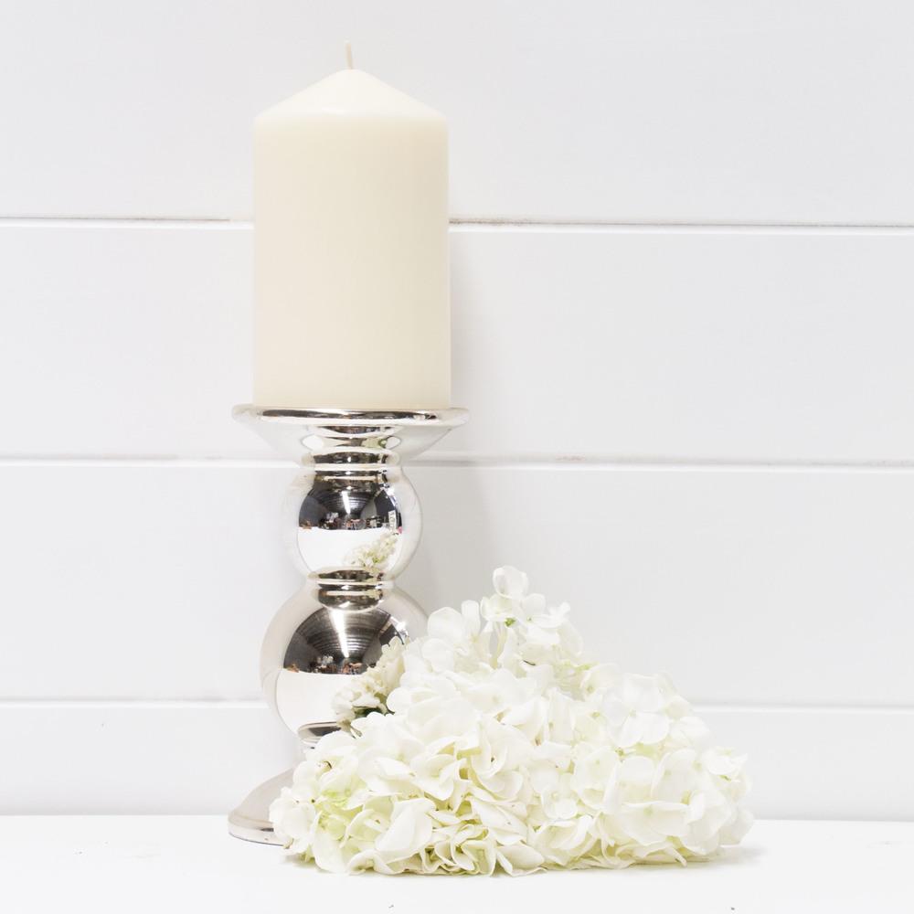 Medium Ceramic Gold Pillar Candle Holder