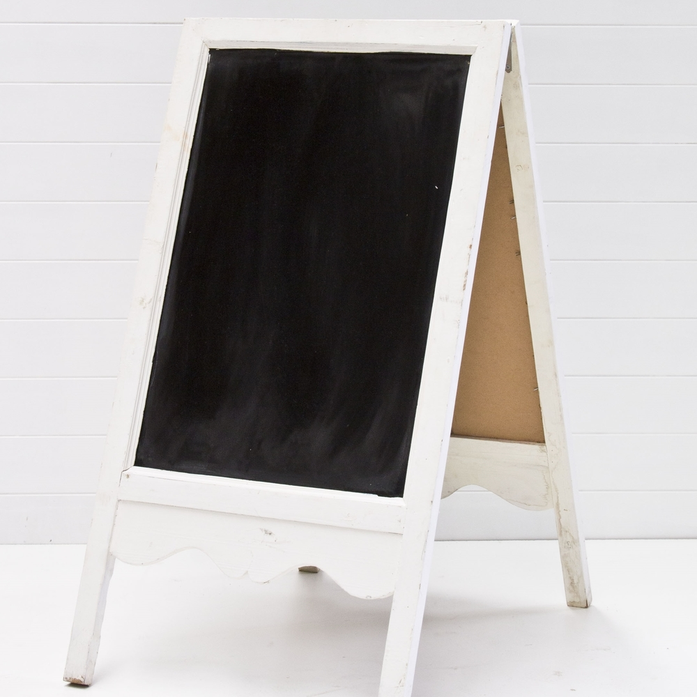 Large A-frame Chalk Board