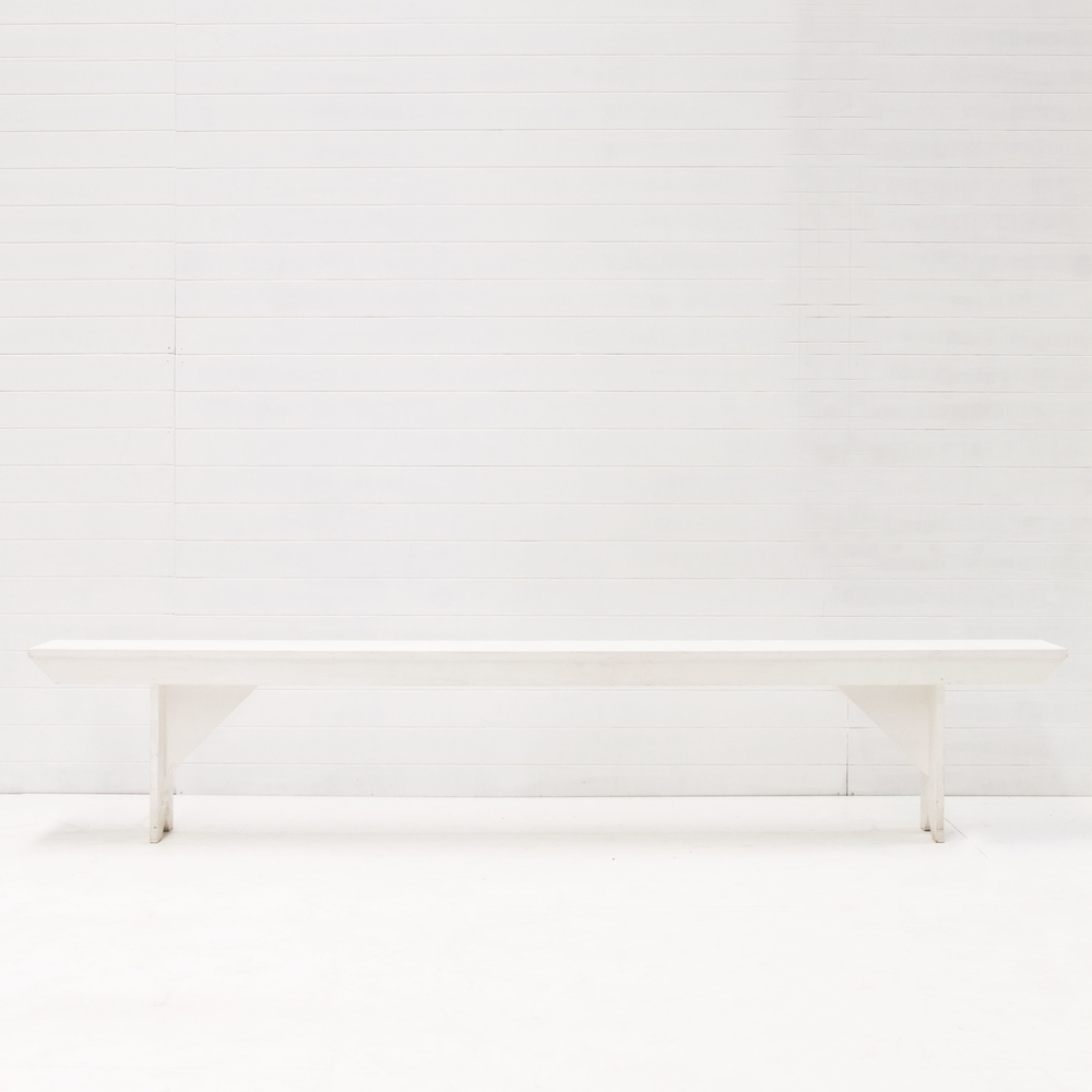White Timber Bench Seat