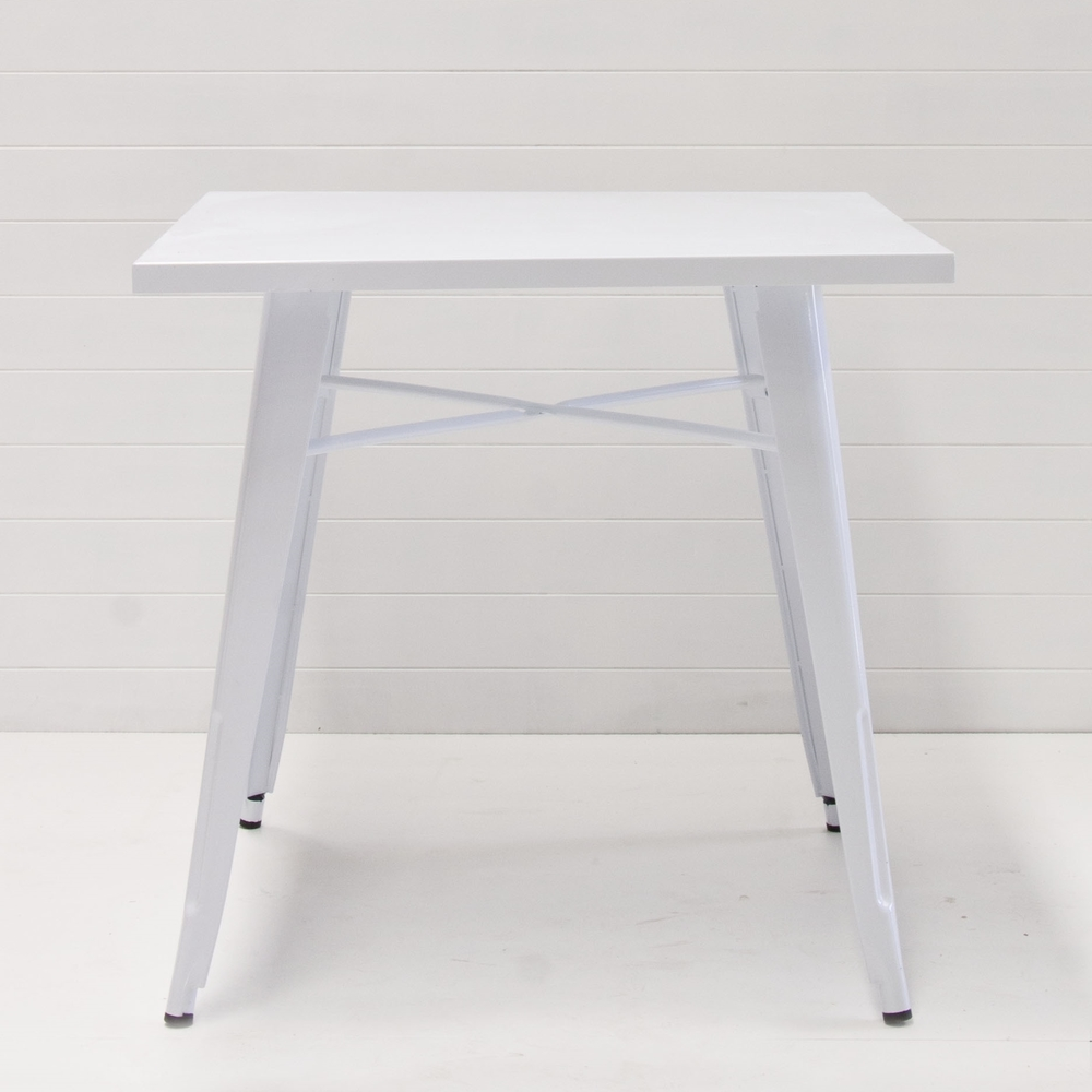 White Tolix Cafe Table