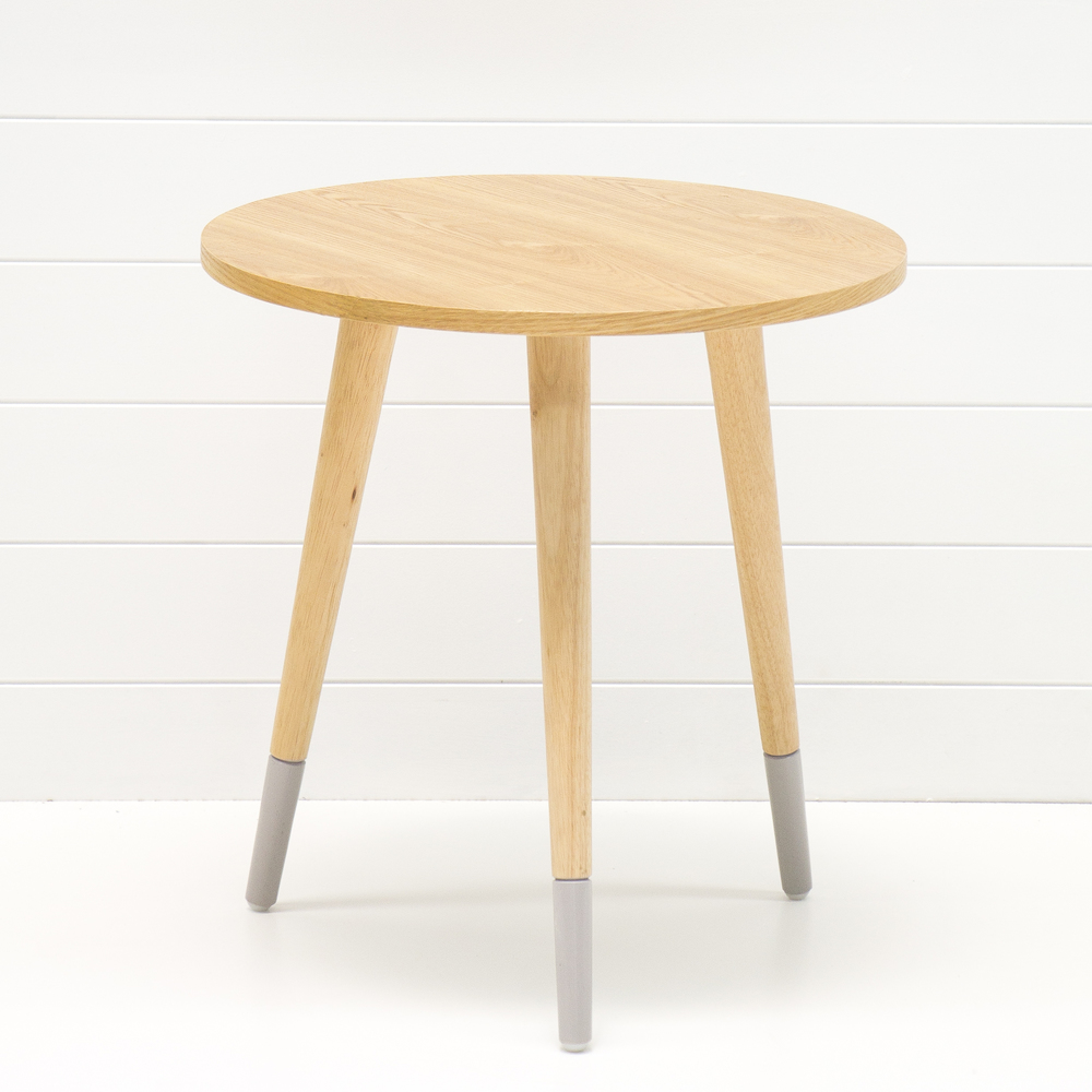 Teak Side Table with Grey Legs