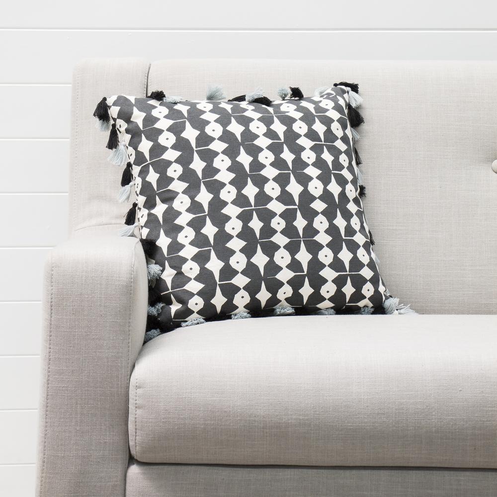Black And White Printed Cushion
