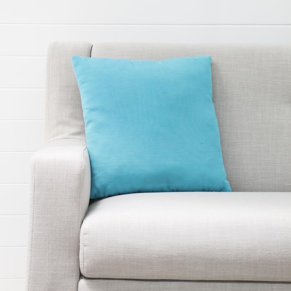 Small Aqua Cushion