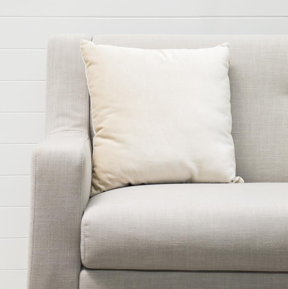 Ivory Velvet Cushion