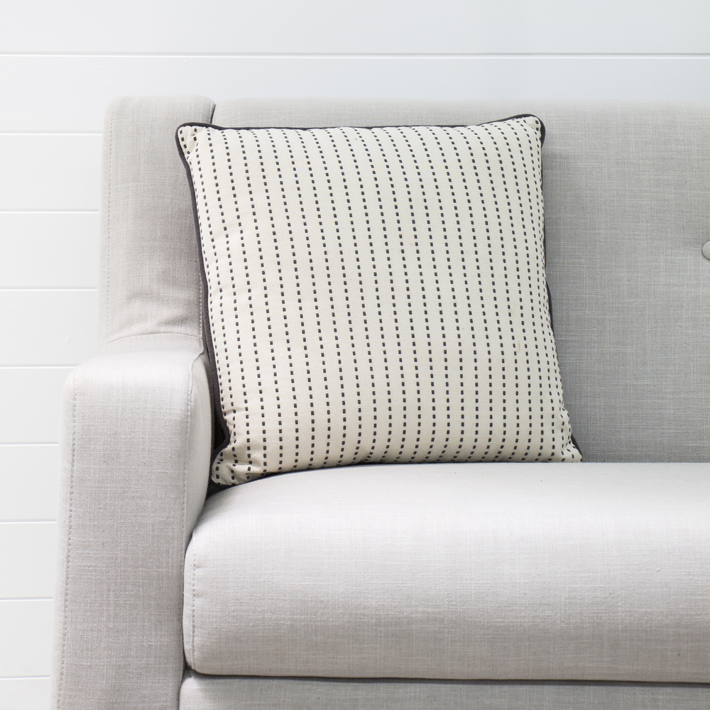Navy Ribbed Cushion