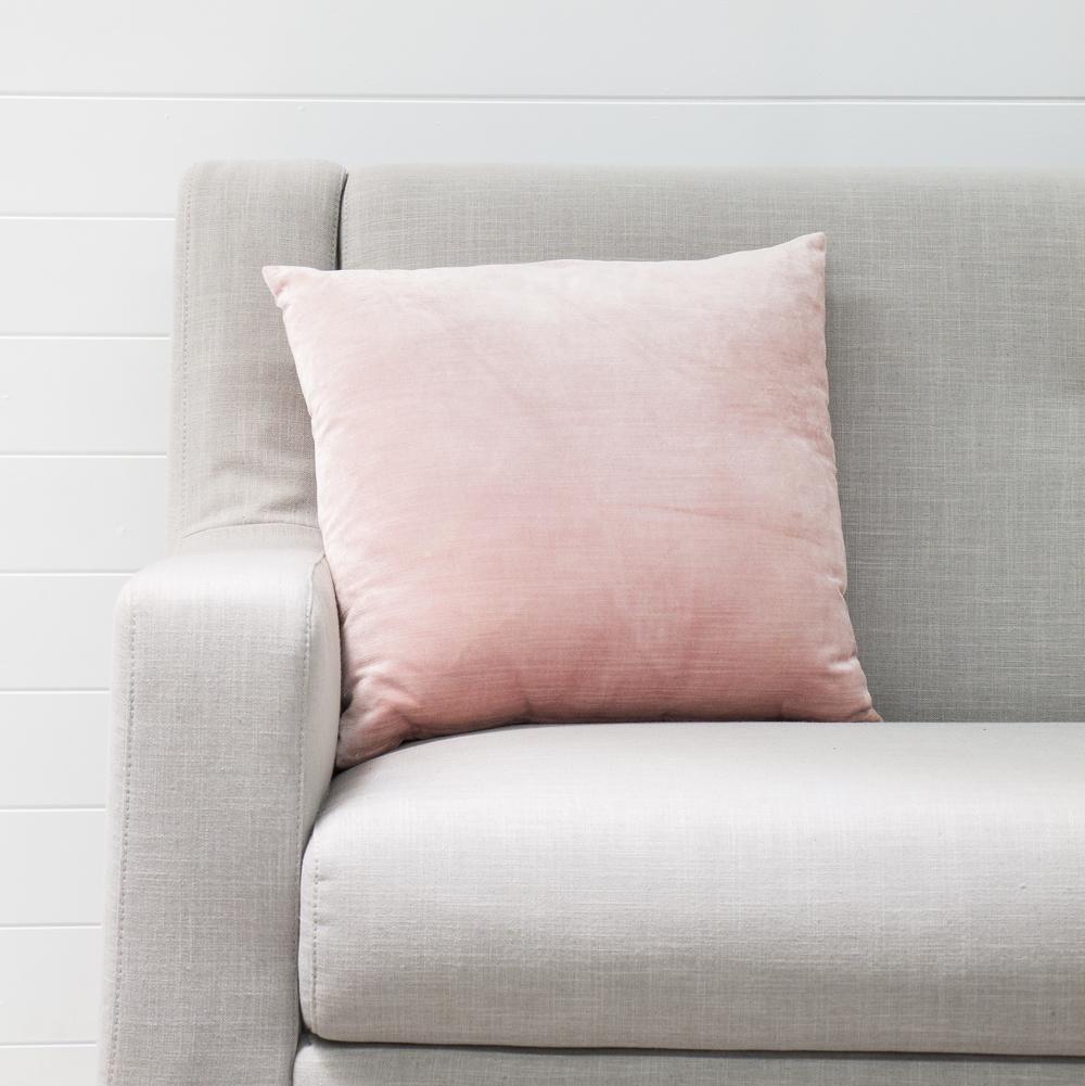 Blush Pink Velvet Cushion