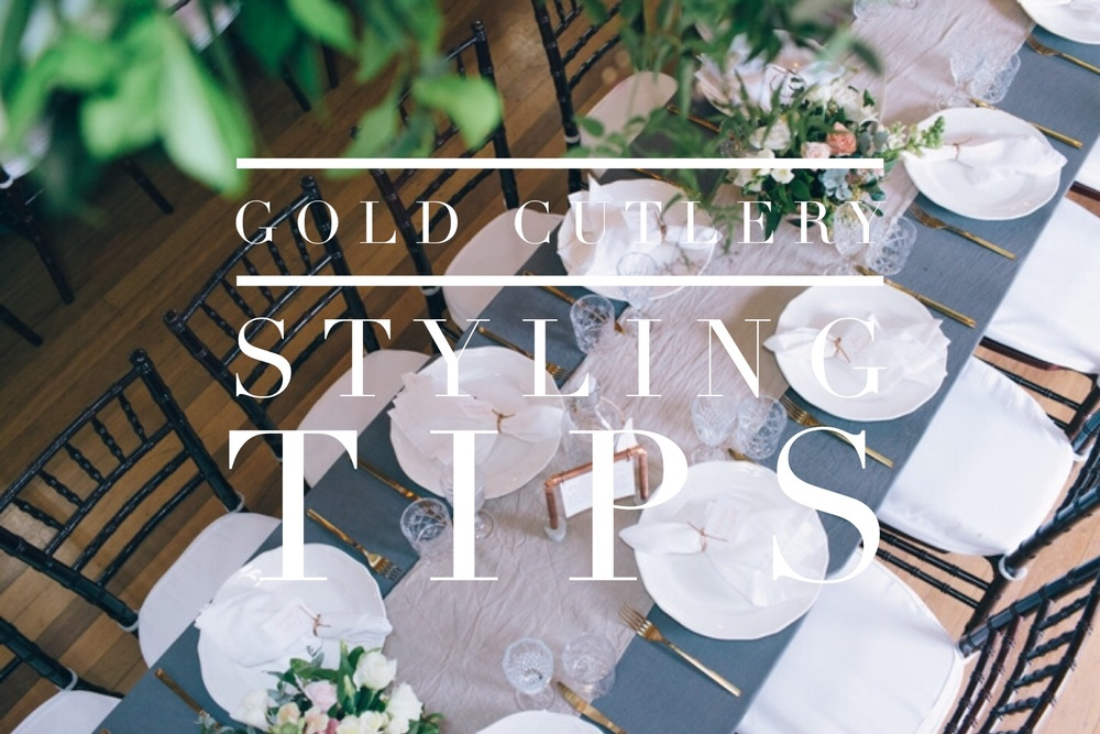 Gold Cutlery Styling Tips for Weddings