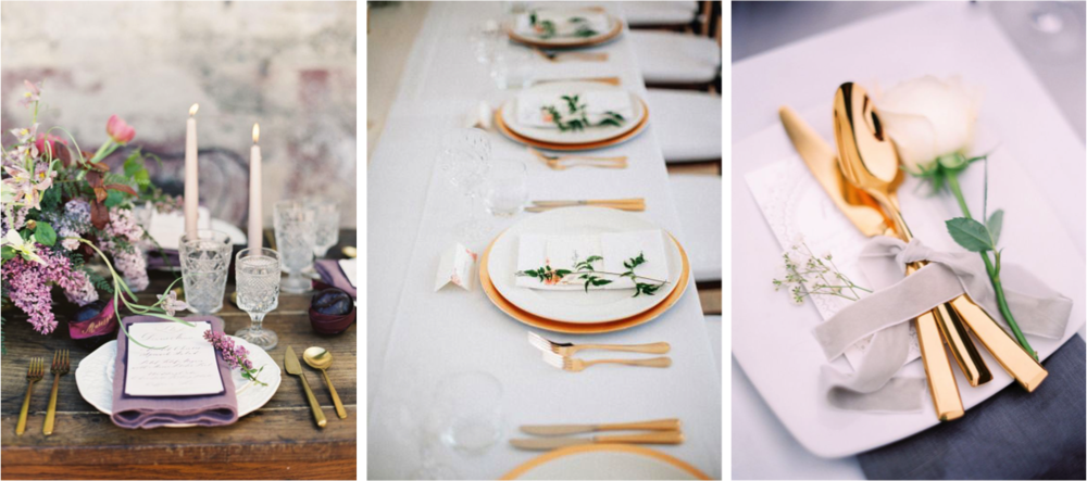 Images via Style Me Pretty & Styling Tips | Gold Cutlery Hire for Weddings and Events | Hampton ...