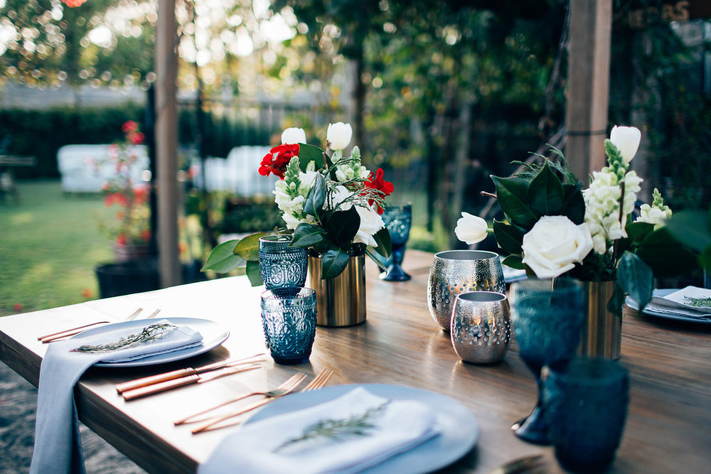 Hampton Event Hire - Wedding and Event Hire | Christmas Table Styling Inspiration at Osteria Casuarina | www.hamptoneventhire.com | Photo by Figtree Pictures