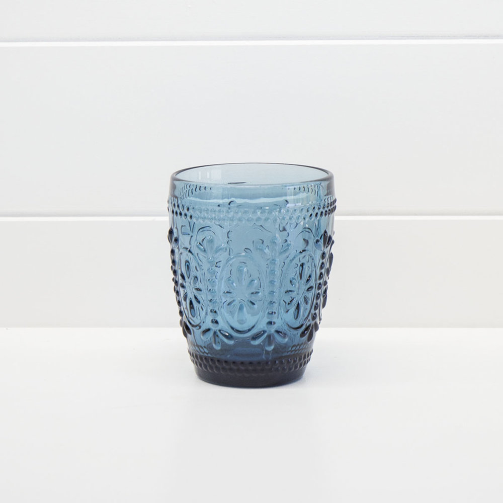 DECORATIVE BLUE WATER GLASS