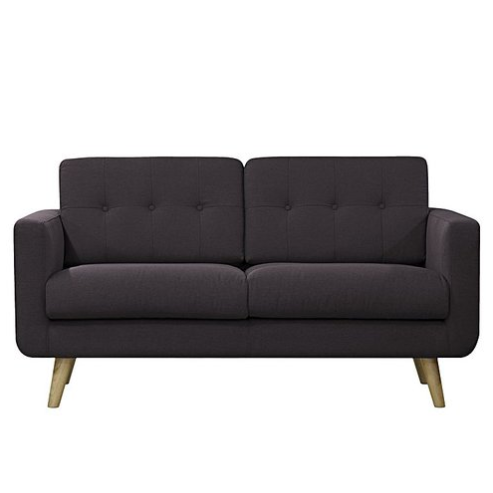 2 SEATER BLACK SOFA