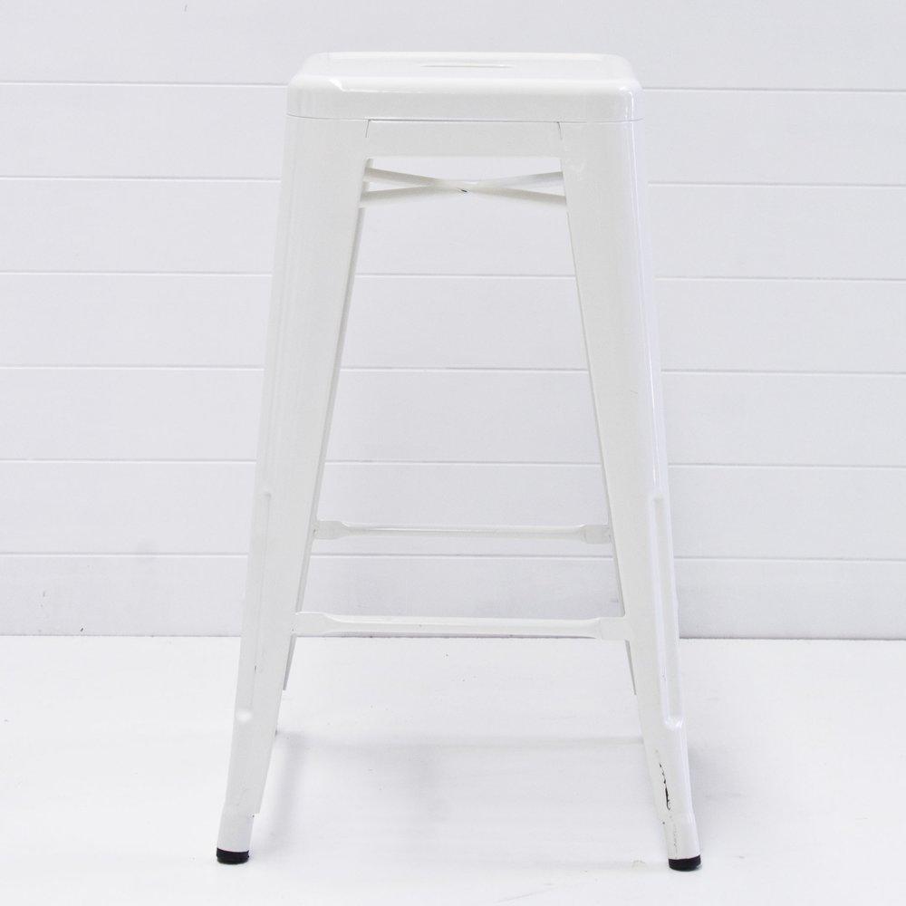 WHITE TOLIX STOOL