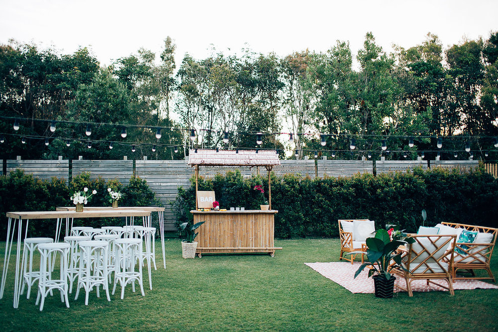 Hampton Event Hire | www.hamptoneventhire.com | Tropical wedding at Osteria Casuarina | Byron Bay, Brisbane and Gold Coast Wedding Hire |