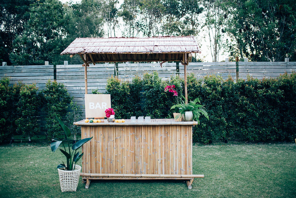 Hampton Event Hire | www.hamptoneventhire.com | Tiki Bar at Osteria Casuarina | Byron Bay, Brisbane and Gold Coast Wedding Hire |