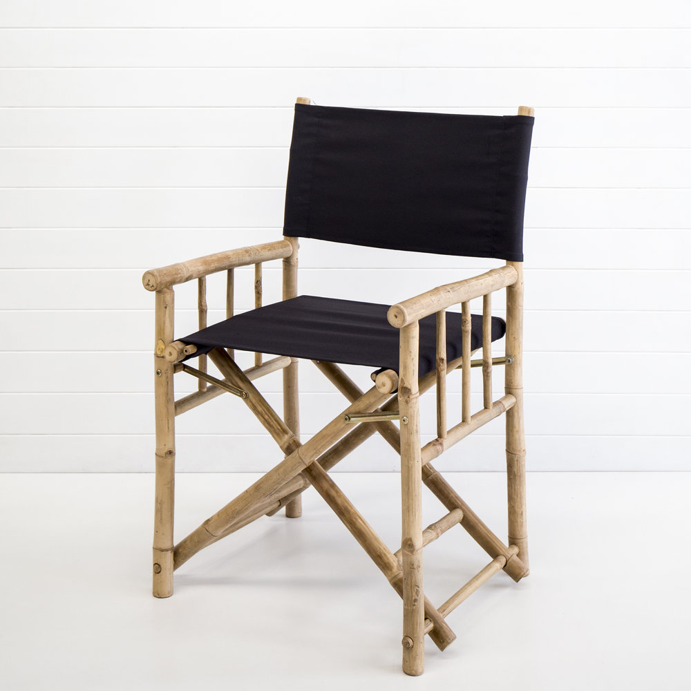 BLACK BAMBOO DIRECTORS CHAIR QTY: 30