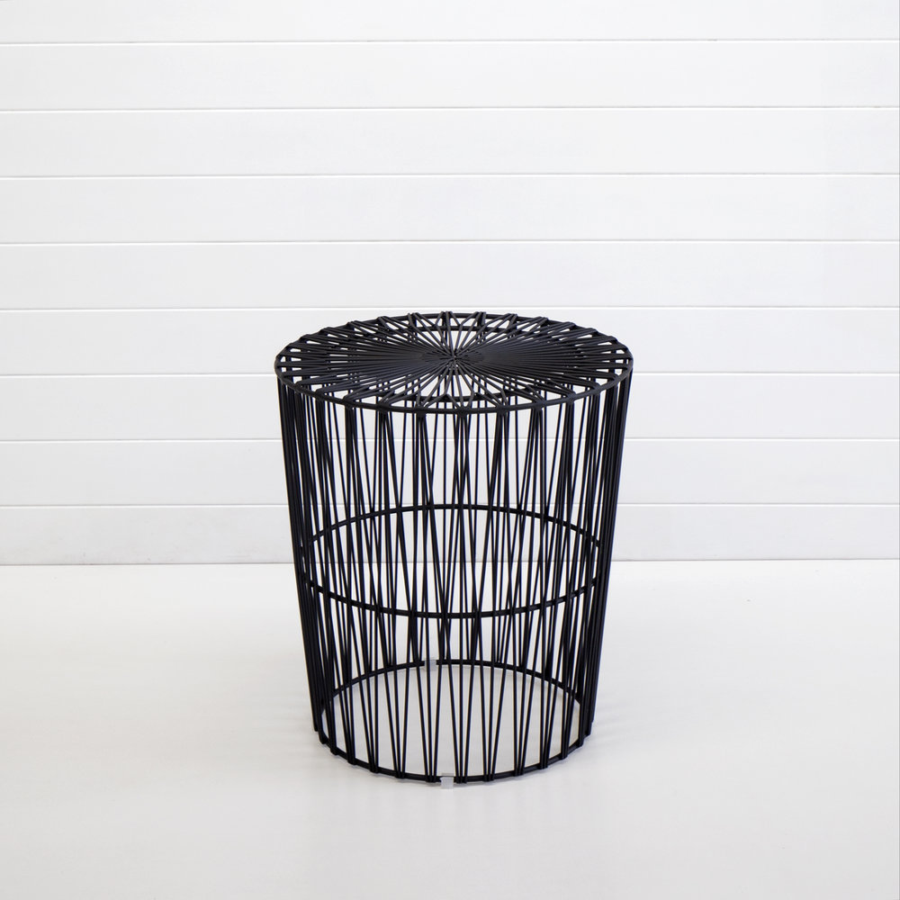 Black Soho wire side table
