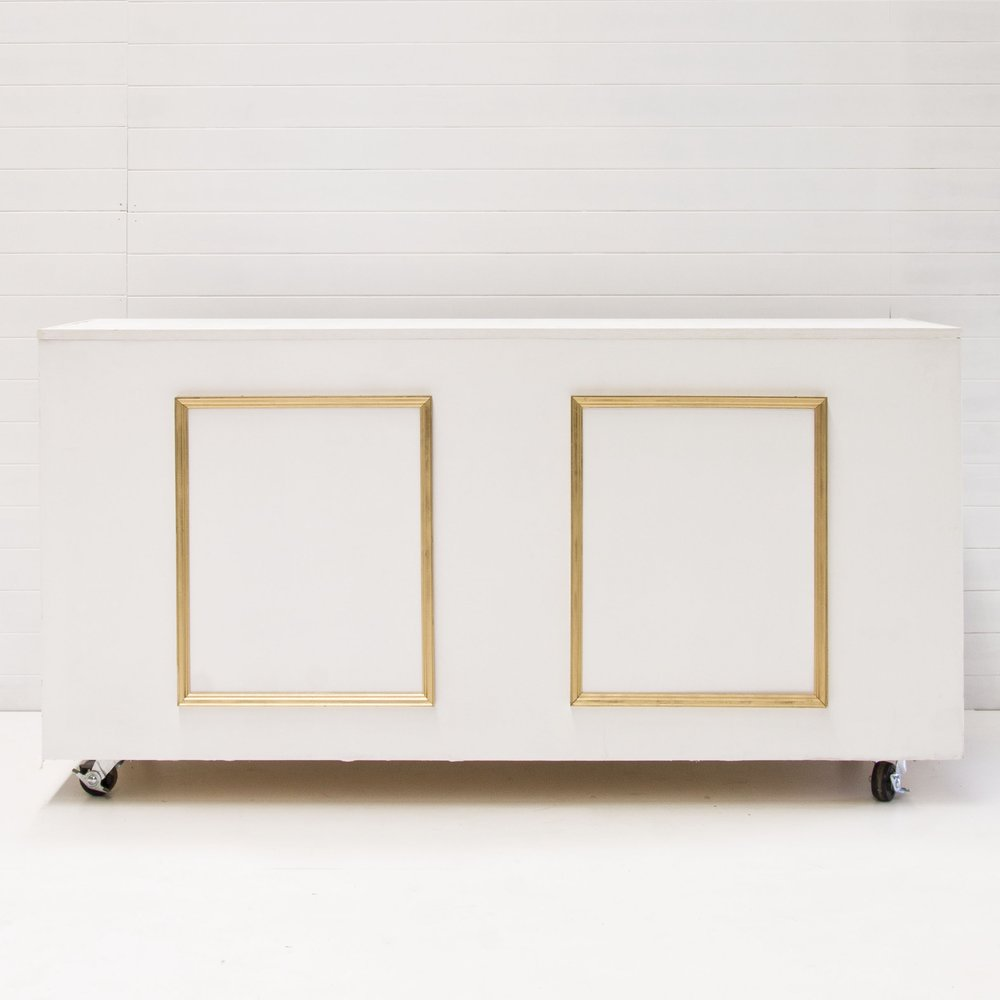 WHITE + GOLD REGAL BAR
