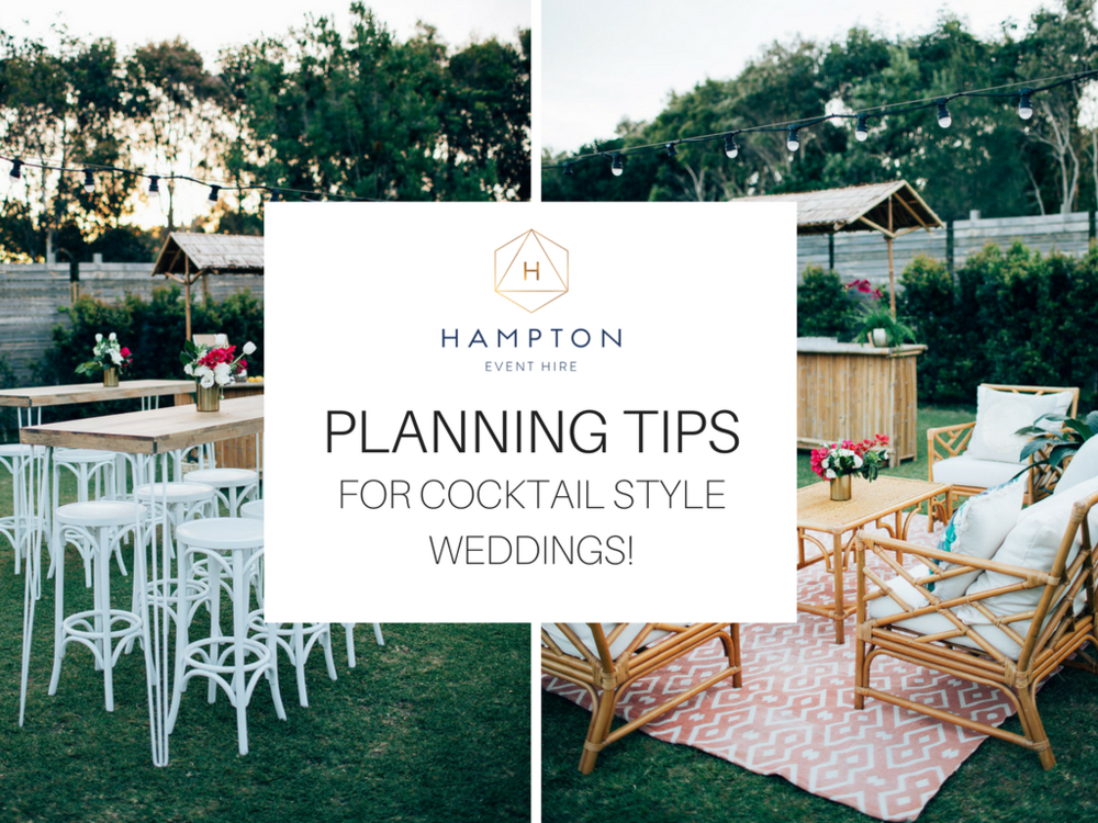 Cocktail Wedding Furniture Tips | Hampton Event Hire - Wedding & Event Hire | www.hamptoneventhire.com | Servicing Brisbane - Gold Coast - Byron Bay | photo by Figtree Pictures