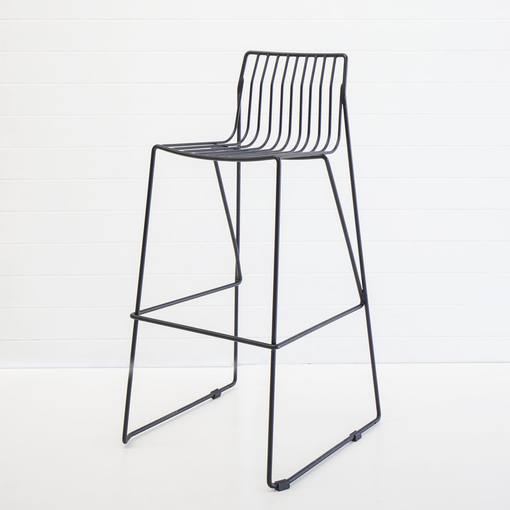BLACK WIRE STOOL