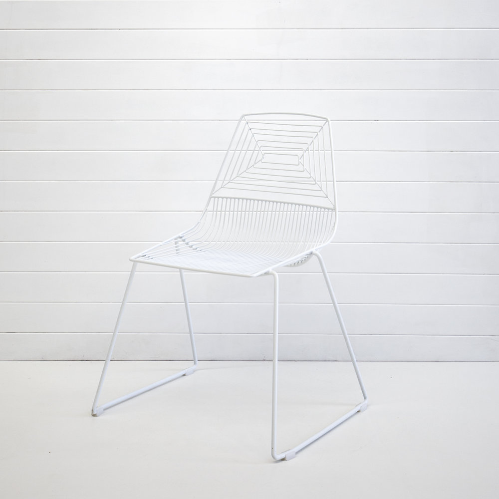 WHITE SOHO DINING CHAIR