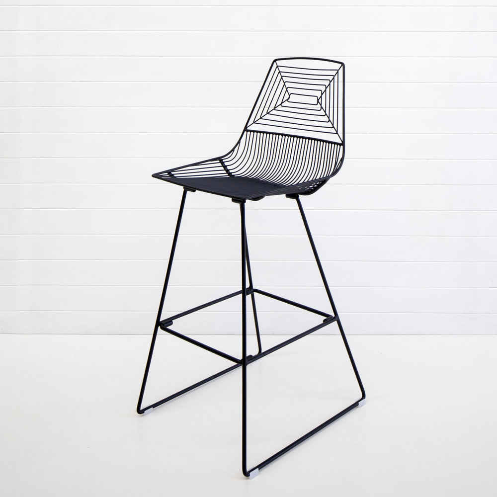 BLACK WIRE SOHO STOOL