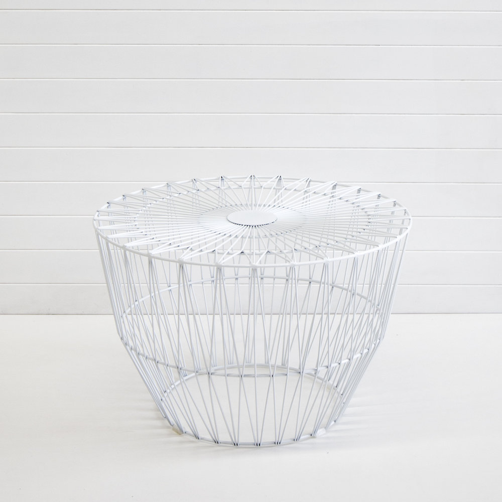 WHITE WIRE SOHO COFFEE TABLE