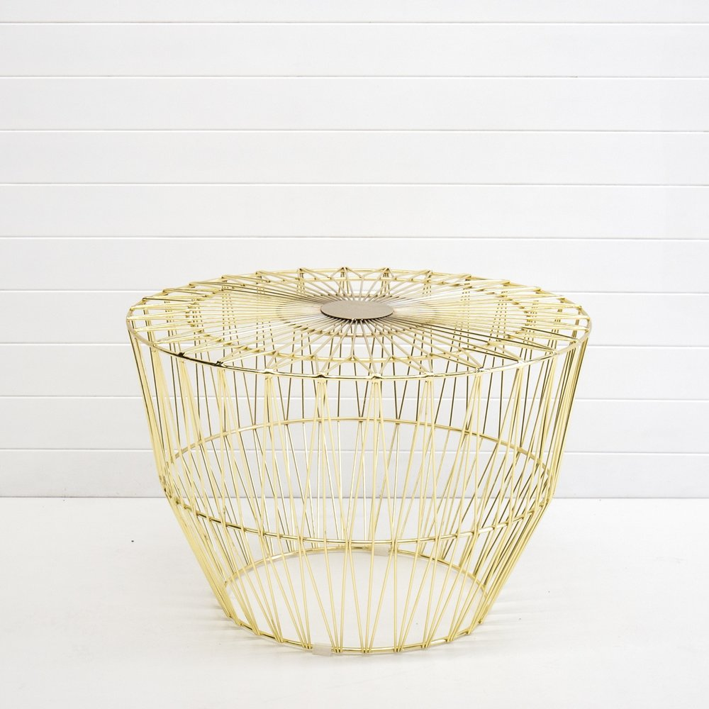 GOLD WIRE SOHO COFFEE TABLE