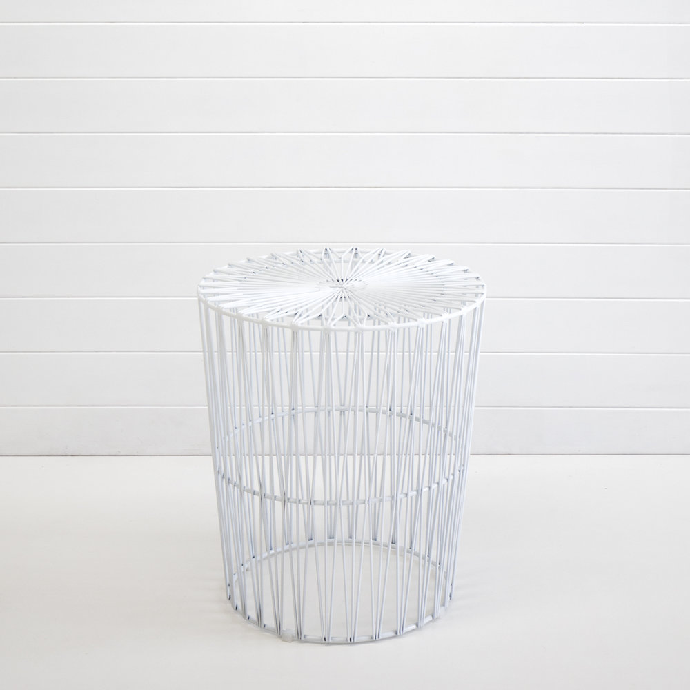 WHITE SOHO WIRE SIDE TABLE