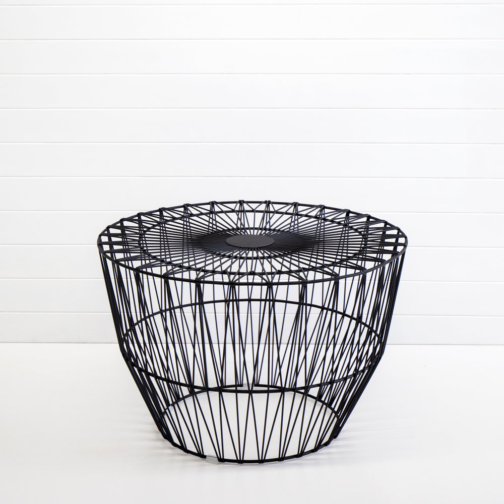BLACK WIRE SOHO COFFEE TABLE