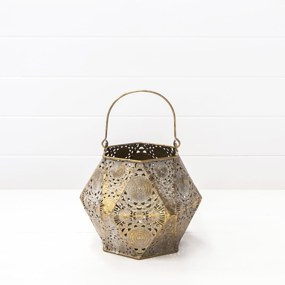 Small Tarnished Moroccan Lantern