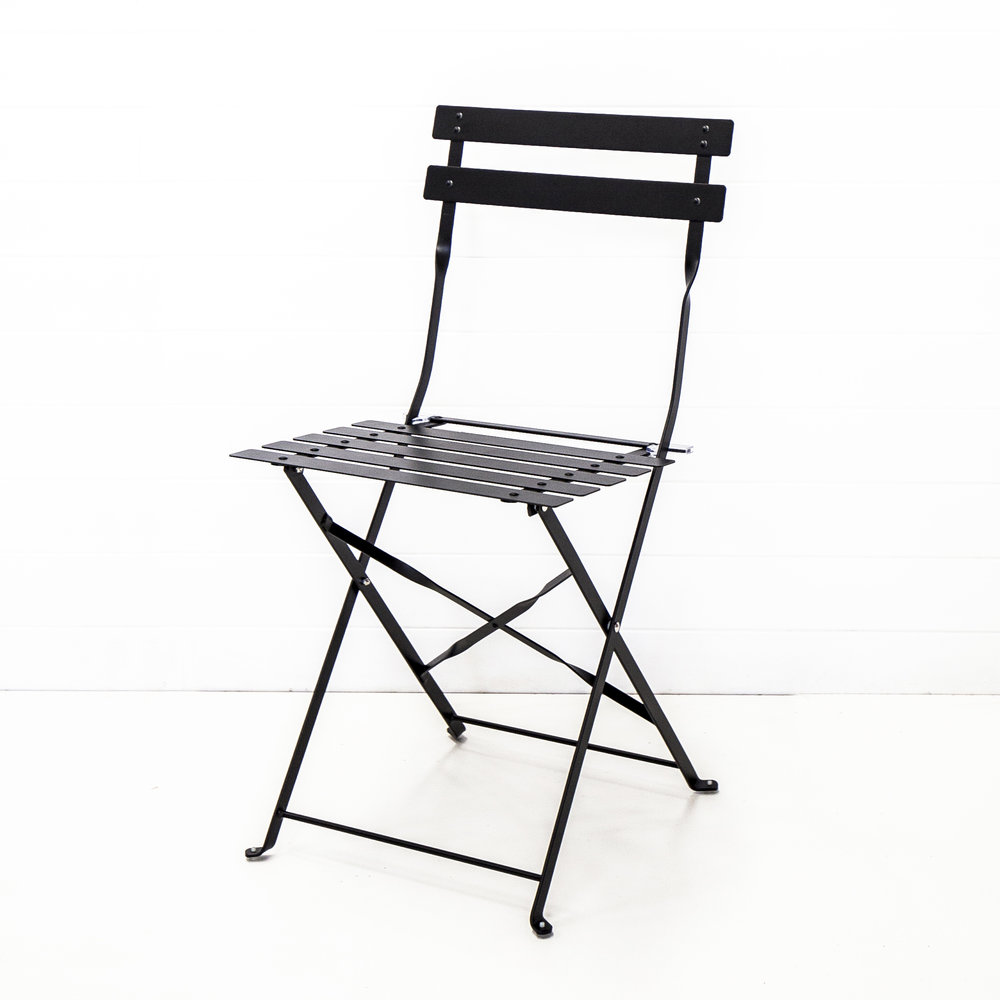 Black Metal Bistro Chair