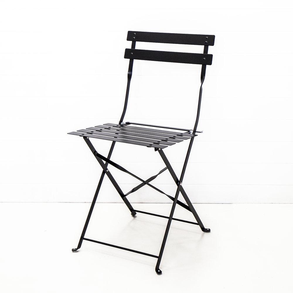 Black Metal Bistro Chair