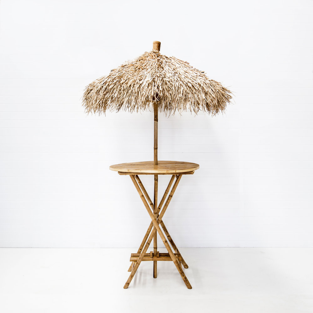Bahamas Bamboo Dry Bar with Seagrass Umbrella