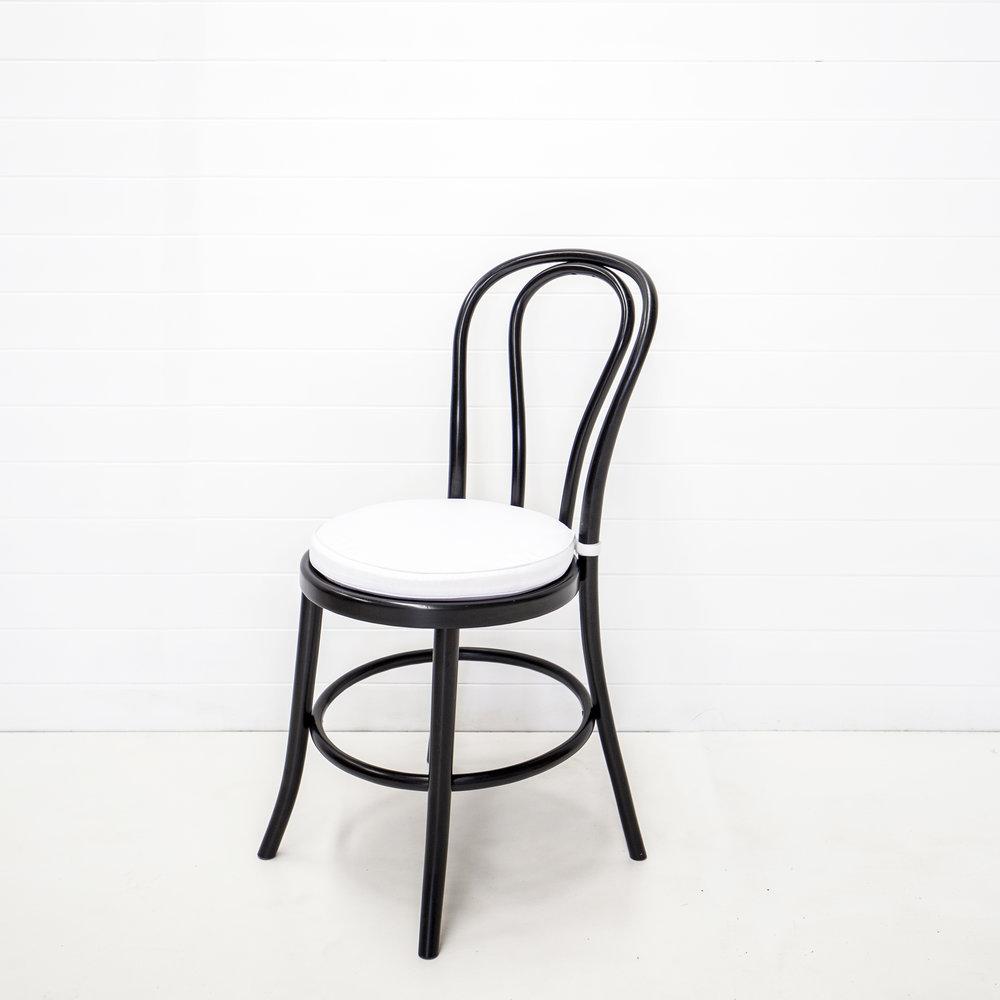 White Bentwood Cushion