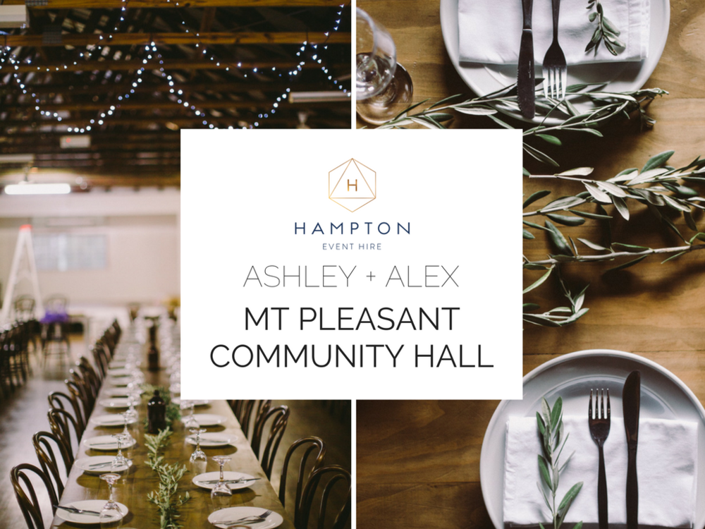 Ashley + Alex | Mount Pleasant Community Hall | Hampton Event Hire - wedding hire | www.hamptoneventhire.com | Photo by Dean Raphael