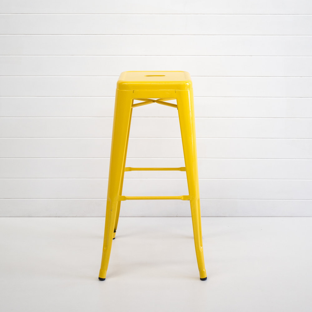 Yellow Tolix Stool - 76cm