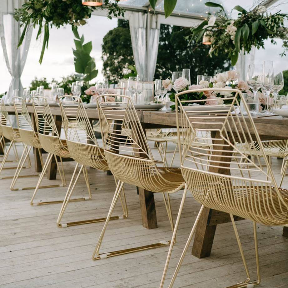 Gold wire chairs