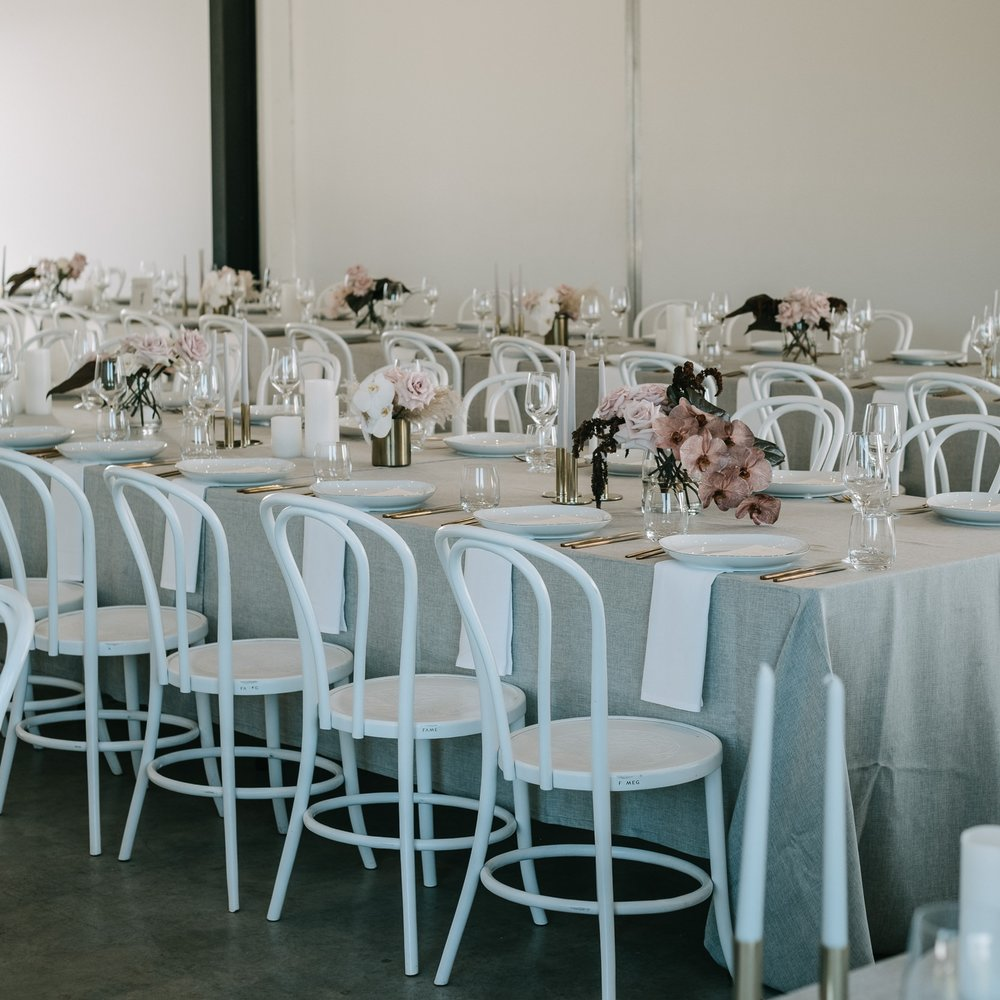 White bentwood event chair