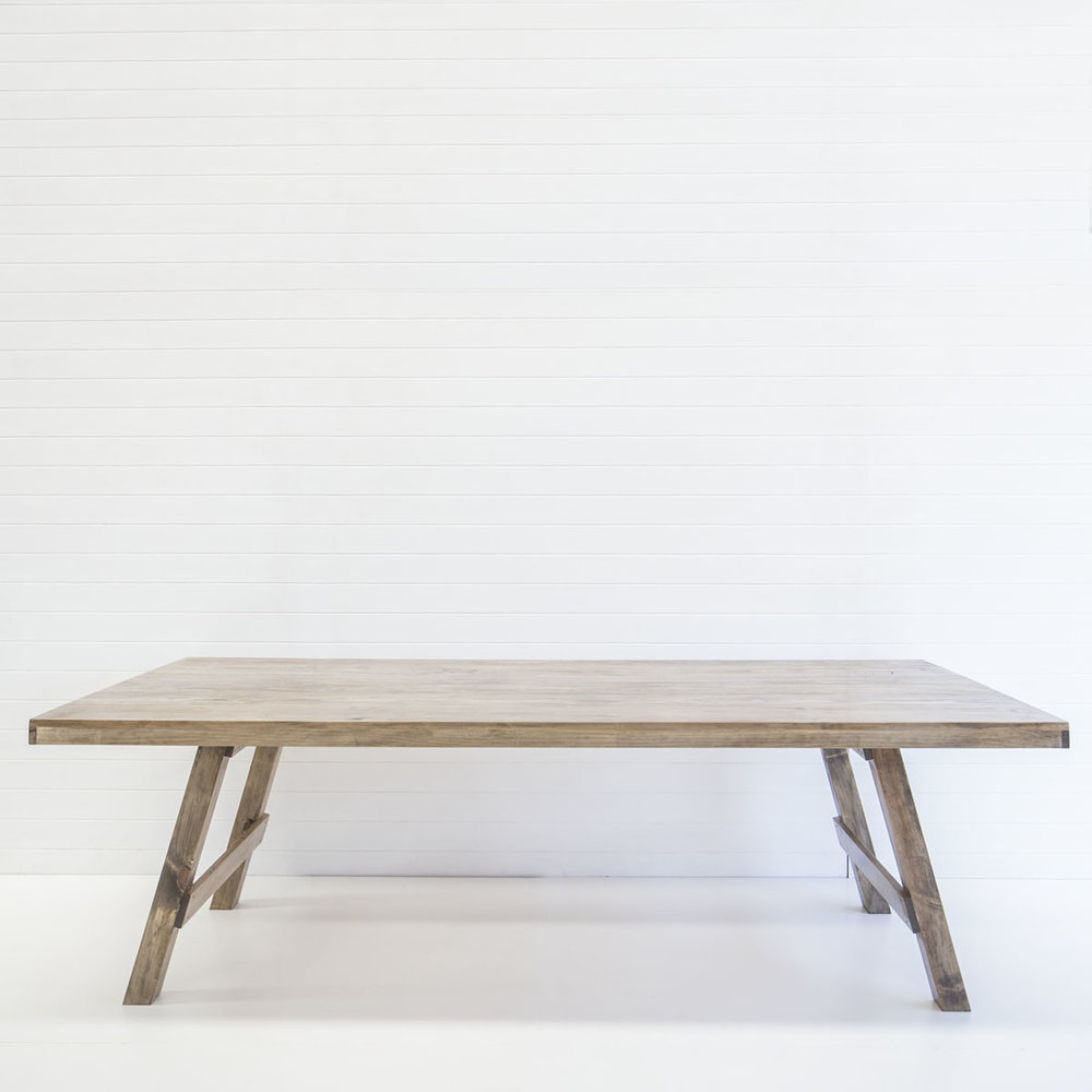 WOODEN FEASTING TABLE