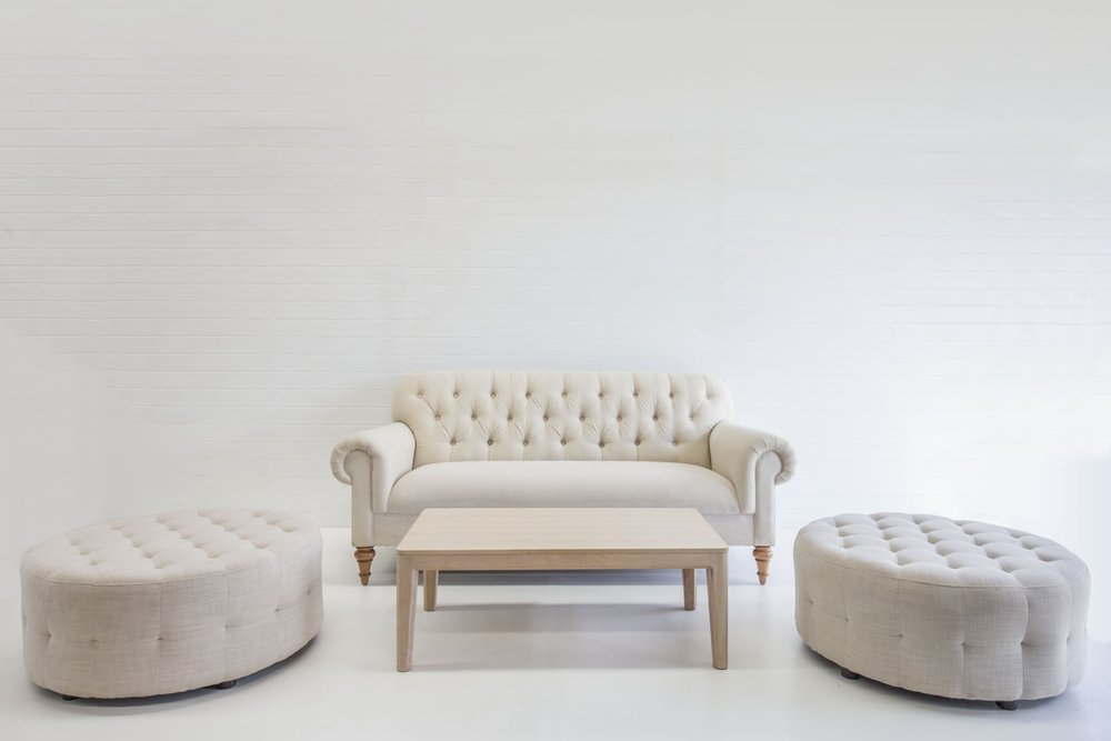 FRENCH LINEN OTTOMAN PACKAGE QTY: 2