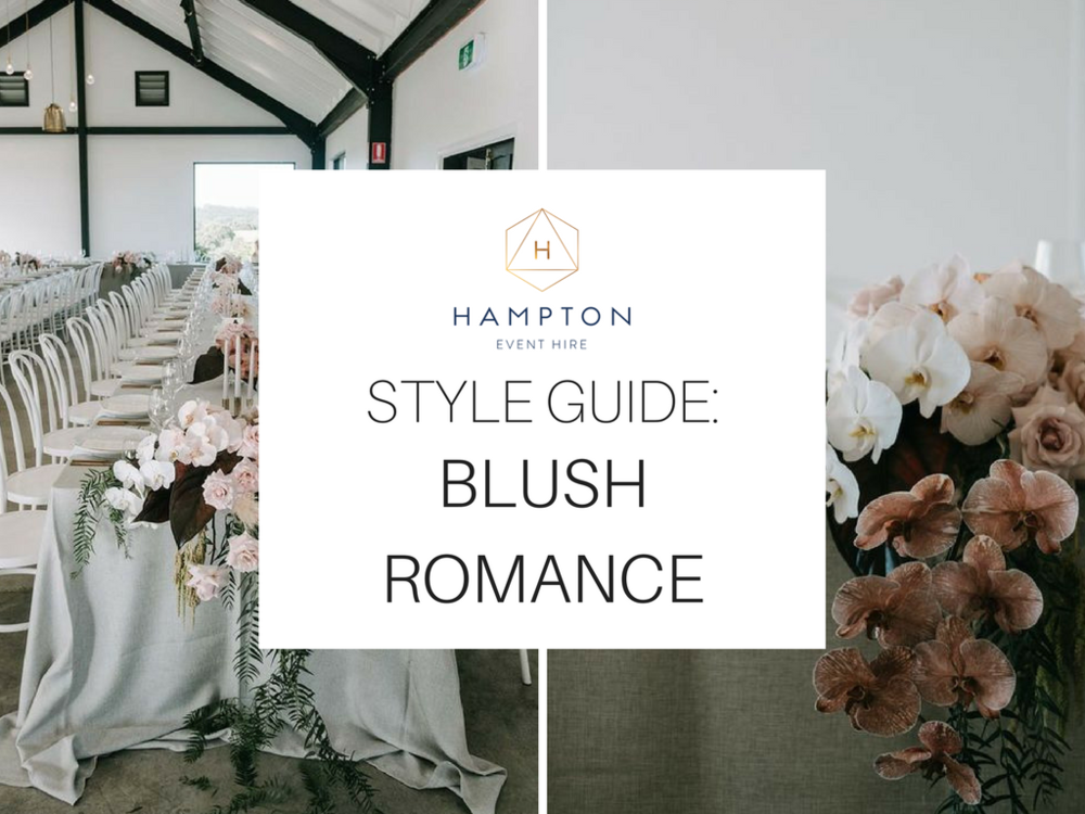 Blush Pink Wedding Styling Ideas and Inspiration | Hampton Event Hire - wedding and event hire | www.hamptoneventhire.com | Styled by The Events Lounge | Image by Lucas and Co Photography