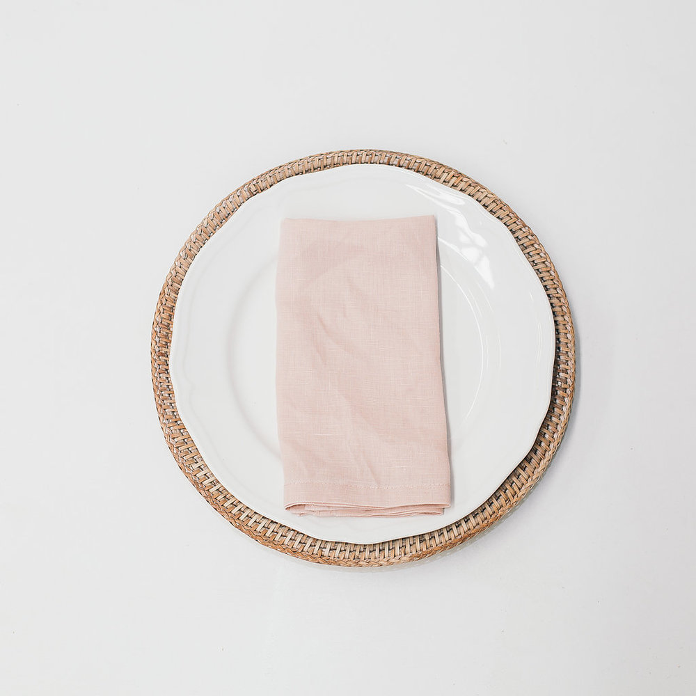 Blush pink Linen Napkin
