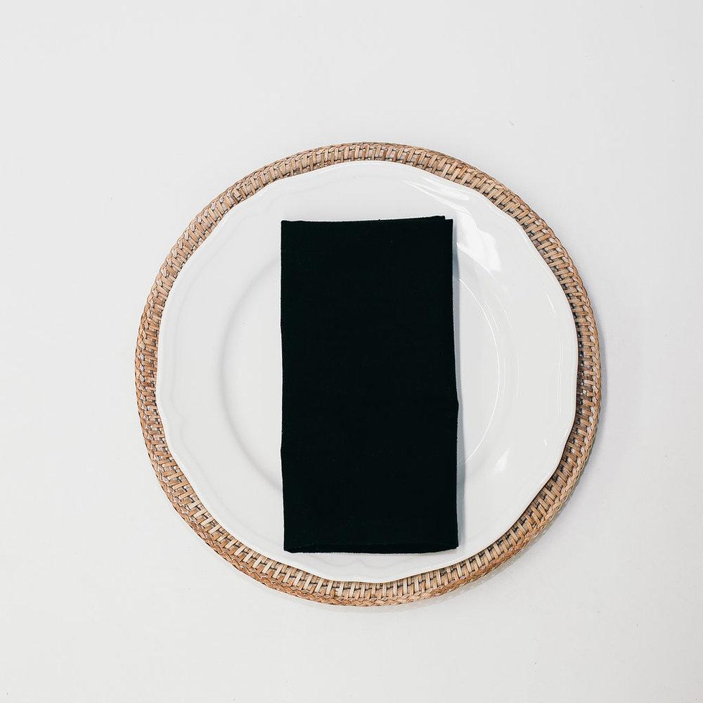 Black Linen Napkin