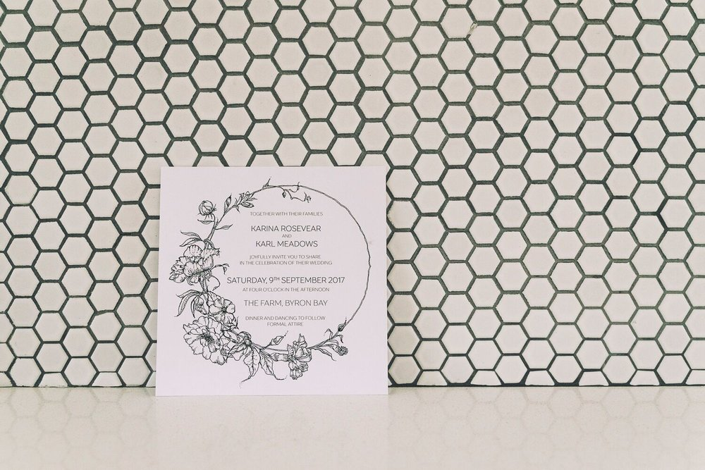 The Farm Byron Bay Wedding | Hampton Event Hire | Photo by Kate Holmes | Wedding invitations