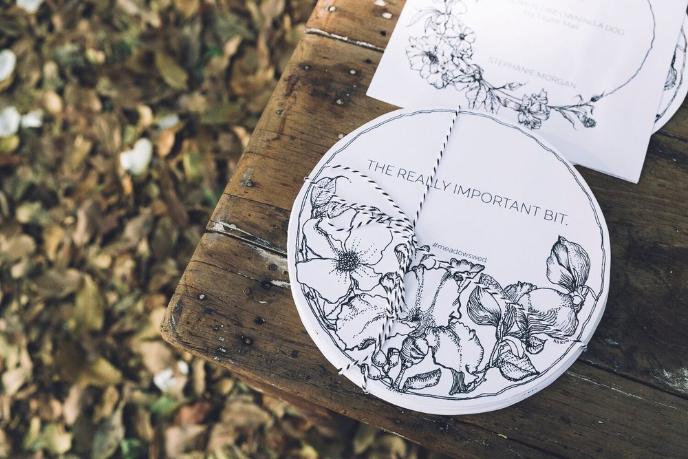 The Farm Byron Bay Wedding | Hampton Event Hire | Photo by Kate Holmes | Stationery