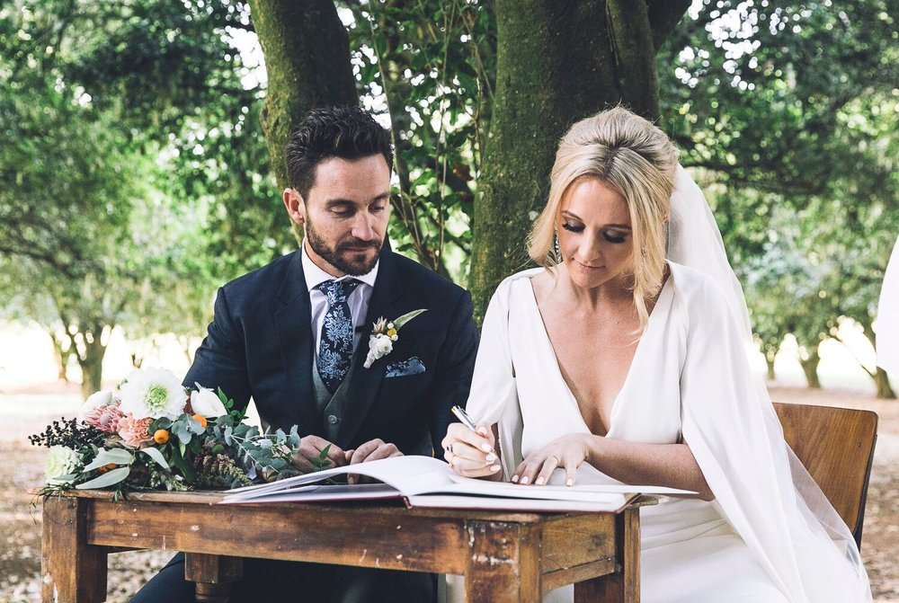 The Farm Byron Bay Wedding | Hampton Event Hire | Photo by Kate Holmes | Signing table