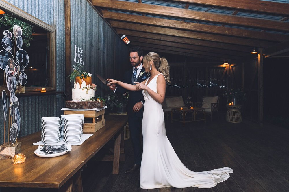 The Farm Byron Bay Wedding | Hampton Event Hire | Photo by Kate Holmes | Wedding cake